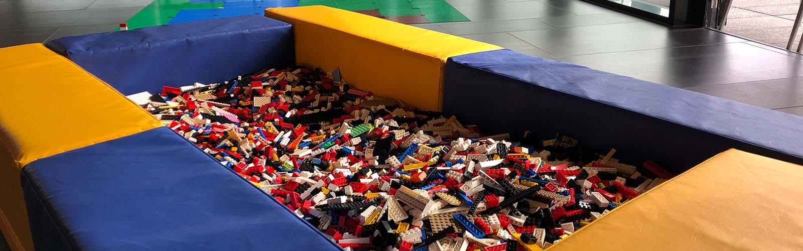 LEGO brick pit hire for Cambridge University, UK